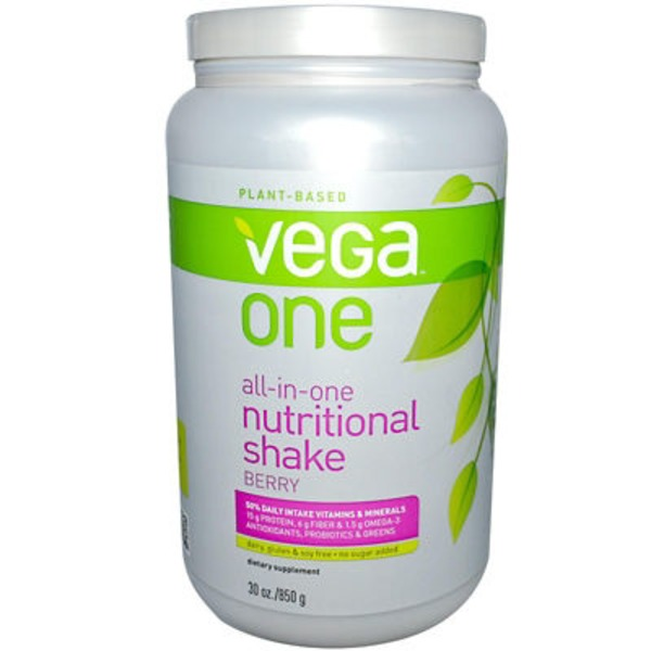 Vega One All-In-One Nutritional Shake Mixed Berry Flavor Drink Mix