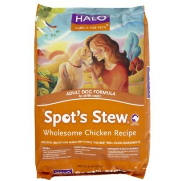 Halo Spot's Stew Chicken Recipe Dog Food 28 Lbs.
