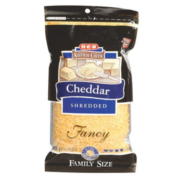 H-E-B Mild Cheddar Fancy Shredded Cheese