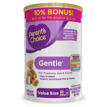 Parent's Choice Gentle Infant Formula with Iron, 36.6 oz