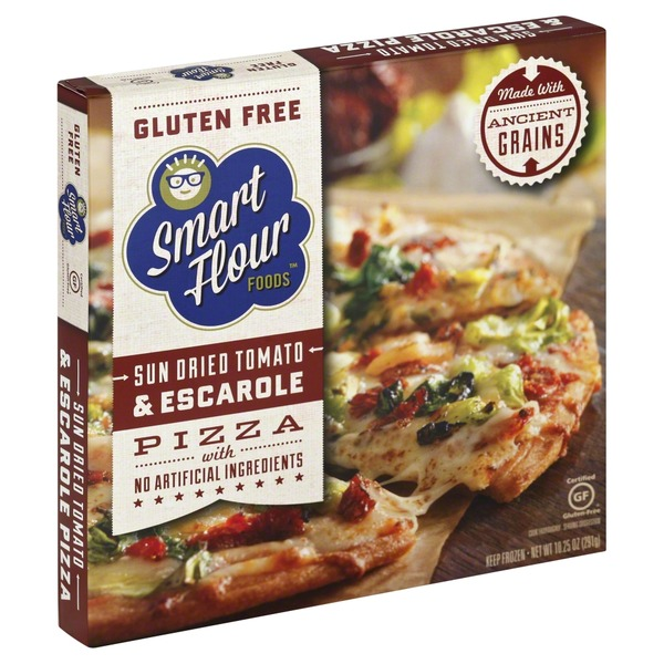 Smart Flour Foods Sun Dried Tomato And Escarole Pizza