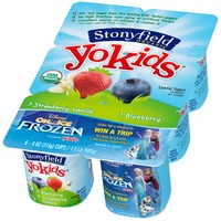 Stonyfield Organic YoKids Strawberry Vanilla & Blueberry Lowfat Organic Yogurt