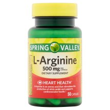 Spring Valley L-Arginine 1000mg Capsules, 50 Ct