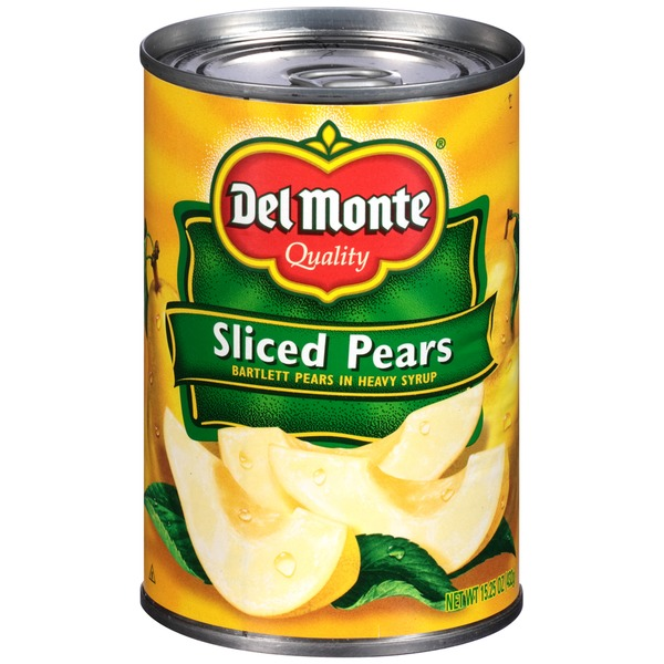Del Monte Bartlett Sliced in Heavy Syrup Pears