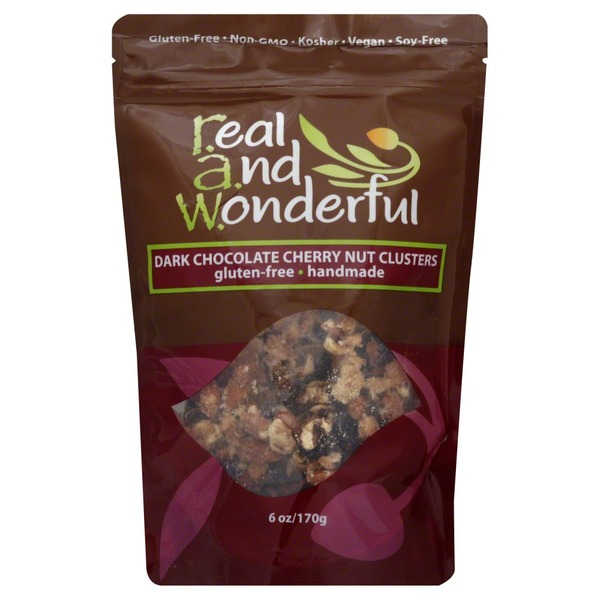 Real And Wonderful Nut Clusters, Dark Chocolate Cherry