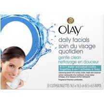Olay Daily Facials Gentle Clean 4-in-1 Water Activated Cleansing Cloths 33 ct Box
