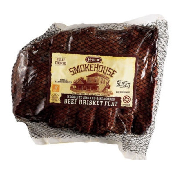 H-E-B Fully Cooked Seasoned Mesquite Smoked Beef Brisket Flat