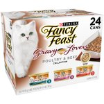 Purina Fancy Feast Gravy Lovers Poultry & Beef Feast Collection Cat Food 24-3 oz. Cans