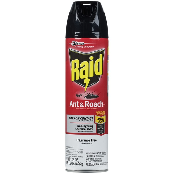 Raid Ant & Roach Killer Fragrance Free Insecticide
