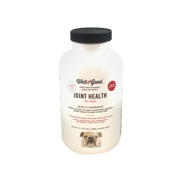 Well & Good Level 2 Moderate Joint Health Chewable Tablets For Dogs