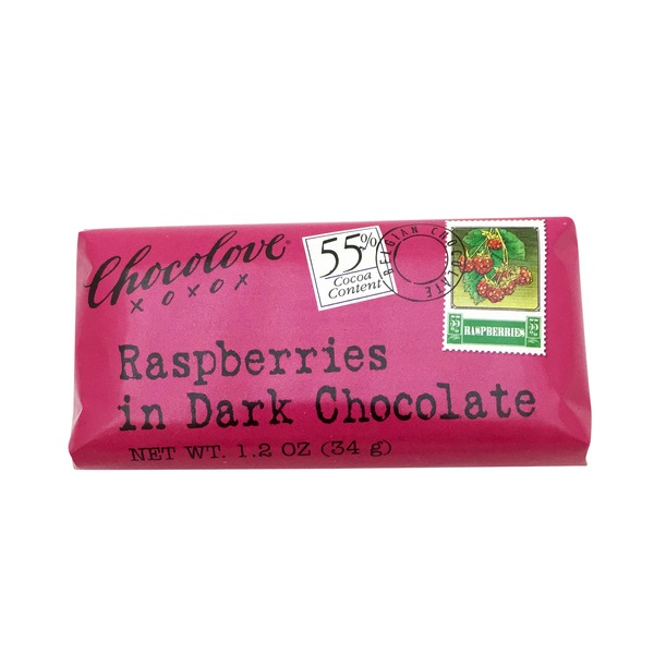 Chocolove Dark Chocolate, Raspberries