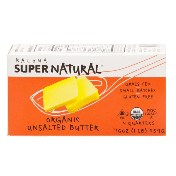 Kalona Super Natural Organic Unsalted Butter - 4 CT