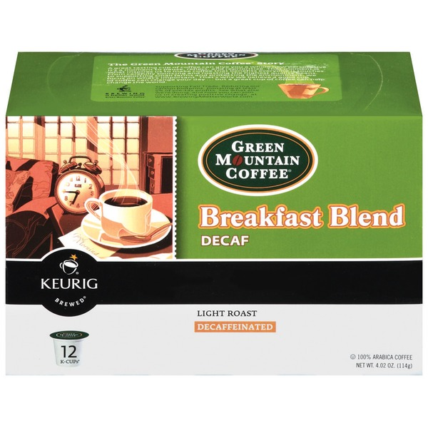 Green Mountain Coffee Breakfast Blend Decaf K-Cup Packs Coffee