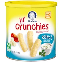 Gerber Graduates Lil' Crunchies Baked Whole Grain Corn Snack, Ranch, 1.48 oz