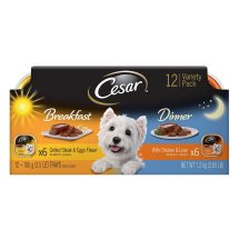 Cesar Breakfast & Dinner Variety Pack Wet Dog Food, 3.5 Oz, 12 Pk