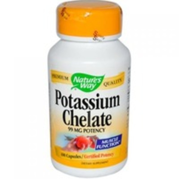 Nature's Way Potassium Chelate 99mg Potency Capsules