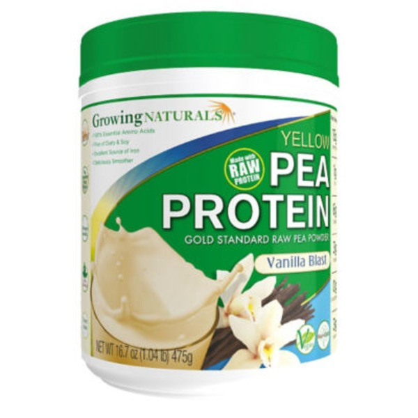 Growing Naturals Vanilla Blast Yellow Pea Protein Powder