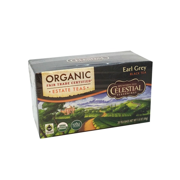 Celestial Seasonings Organic Earl Grey Estate Tea Bags 20 Count