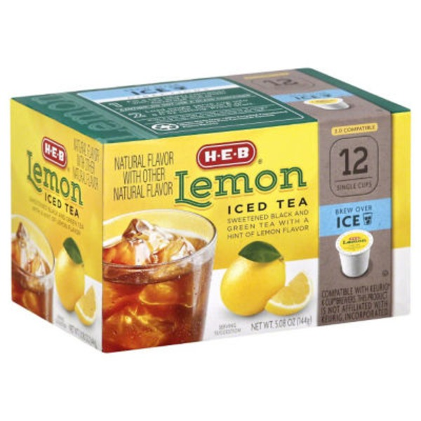 H-E-B Lemon Iced Tea Single Serve