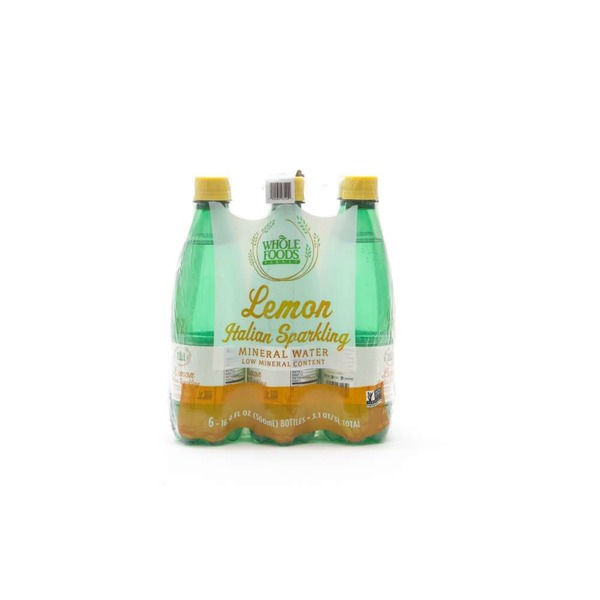 Whole Foods Market Lemon Italian Sparkling Mineral Water