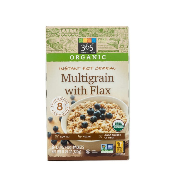 365 Instant Hot Cereal, Multigrain With Flax