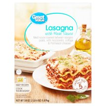 Great Value Lasagna with Meat Sauce Family Size, 38 oz
