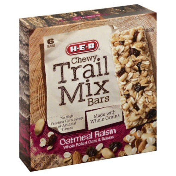 H-E-B Oatmeal Raisin Chewy Trail Mix Bars