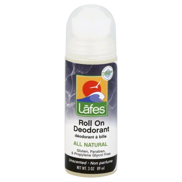 Lafe's Natural BodyCare Unscented Roll On Deodorant
