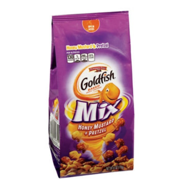 Pepperidge Farm Goldfish Goldfish Mix Honey Mustard + Pretzel Baked Snack Crackers