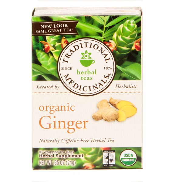 Traditional Medicinals Organic Ginger Caffeine Free Herbal Tea
