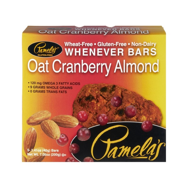 Pamela's Gluten Free Oat Cranberry Almond Whenever Bars - 5 CT