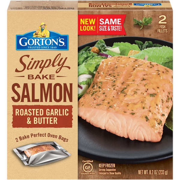 Gortons Simply Bake Roasted Garlic & Butter Salmon Fillets