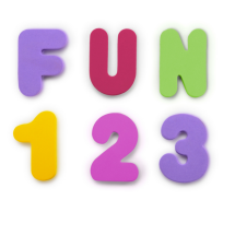 Munchkin Learn Bath Letters & Numbers-Pastel, 36 Count