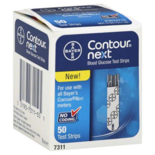 Contour Bayer Contour Next Blood Glucose Test Strips - 50 CT