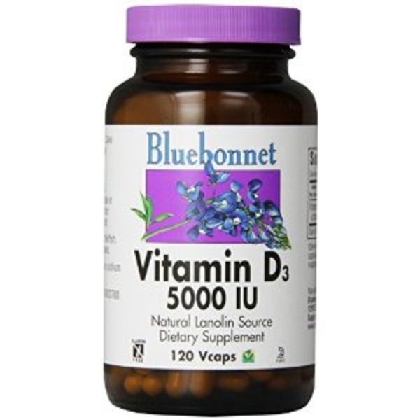Bluebonnet Nutrition Vitamin D3 2000 IU Vegetable Capsules