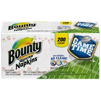 Bounty Basic Paper Napkins, Print, 200 Count Towels/Napkins