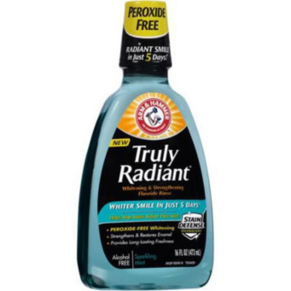 Arm & Hammer Truly Radiant Whitening & Strengthening Sparkling Mint Fluoride Rinse