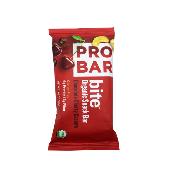 Probar Organic Chocolate Cherry Cashew Snack Bar Bite