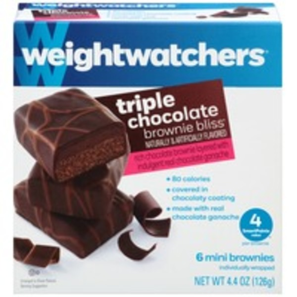Weight Watchers Sweet Baked Goods Triple Chocolate Brownie Bliss Mini Brownies