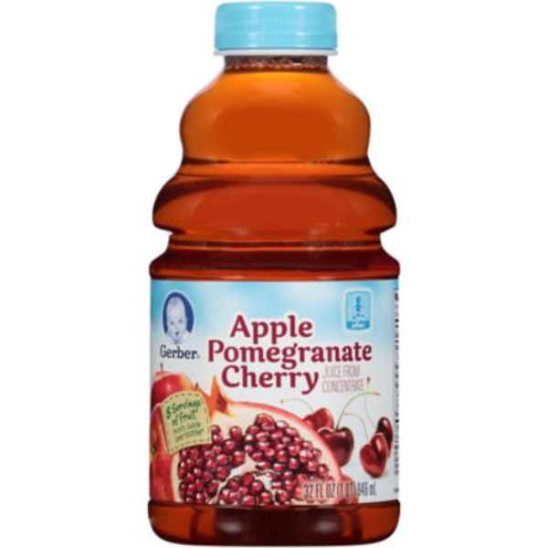 Gerber Juice Apple Pomegranate Cherry Juice Fruit