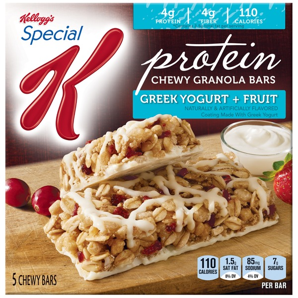 Kellogg's Special K Protein Greek Yogurt & Fruit Granola Snack Bars