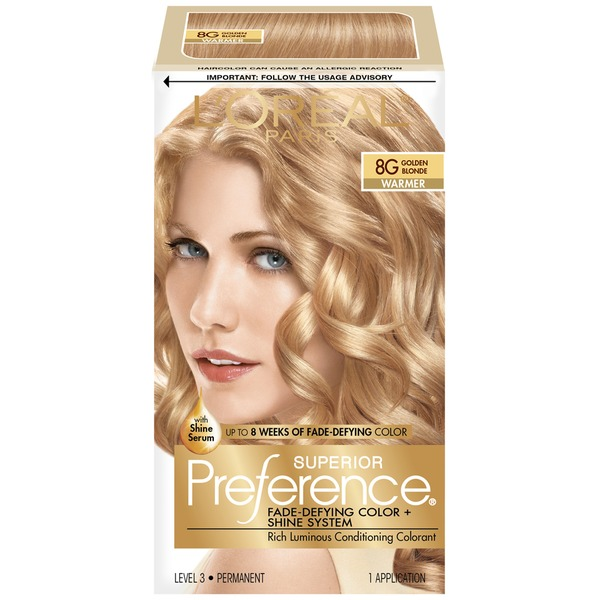 Superior Preference 8g Warmer Golden Blonde Hair Color