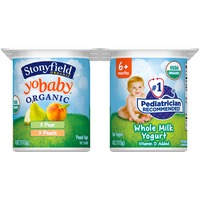 Stonyfield Organic Yobaby Peach & Pear Whole Milk Organic Yogurt