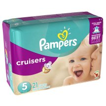Pampers Cruisers Diapers Size 5, 21 Diapers