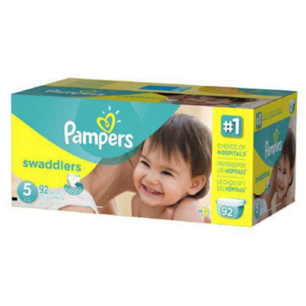 Pampers Swaddlers Pampers Swaddlers Diapers Size 5 92 count Diapers