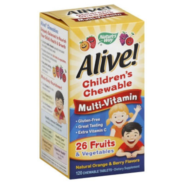 Nature's Way Multi-Vitamin, Children's Chewable, Chewable Tablets, Natural Orange & Berry Flavors