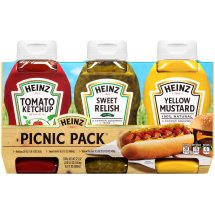 Heinz Picnic Pack: Ketchup, Sweet Relish, Yellow Mustard, 3 count, 37.5 oz