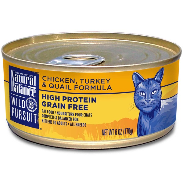 Natural Balance Wild Pursuit Grain Free Chicken, Turkey and Quail Formula Cat Food