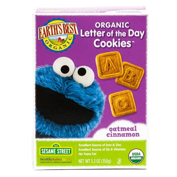 Earth's Best Organic Organic Oatmeal Cinnamon Letter of the Day Cookies