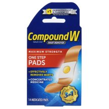 Compound W Wart Remover One Step Pads - 14 CT